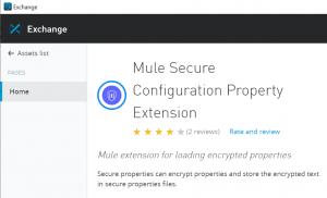 Mule Secure Configuration Properties Extension
