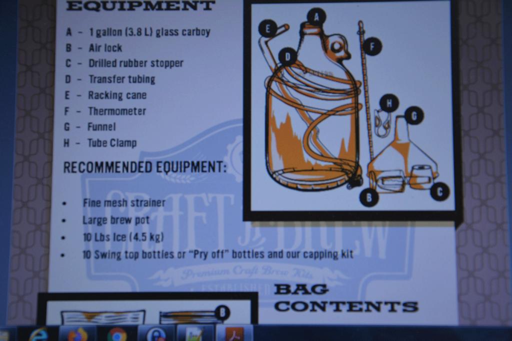 Basic beer making equipment